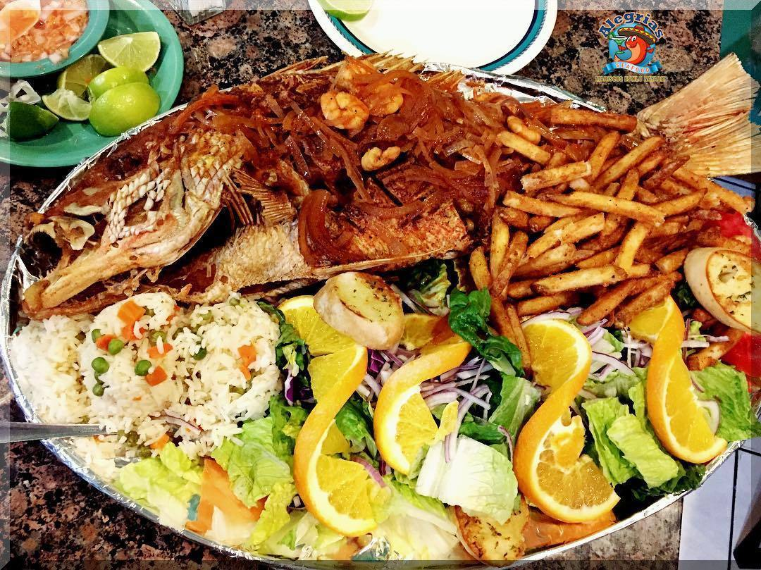 Alegrias seafood chicago red snapper garlic huachinango frito middle home